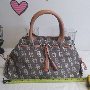 Dooney & Bourke, small handbag with tassels